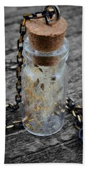 Make A Wish - Dandelion Seed In Glass Bottle With Gold Fairy Dust Necklace Hand Towel