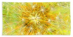 Make A Wish In Greenish Yellow Hand Towel