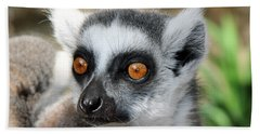 Hand Towel featuring the photograph Malagasy Lemur by Sergey Lukashin