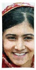 Malala Yousafzai Portrait Bath Towel