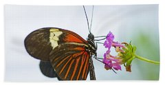 Bath Towel featuring the photograph Malay Lacewing by Nick  Boren