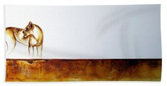 Lioness - Original Artwork Bath Towel