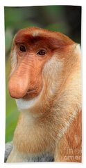 Male Proboscis Monkey Bath Towel