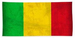 Mali Flag Vintage Distressed Finish Bath Towel