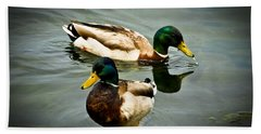 Mallards On Mendota Bath Towel