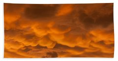 Mammatus Clouds Hand Towel by Paul Rebmann