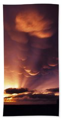 Mammatus Sunset Over Colorado Hand Towel