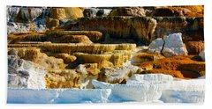 Mammoth Hot Springs Rock Formation No1 Bath Towel