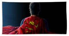 Hand Towel featuring the digital art Man Of Steel - Superman by Anthony Mwangi