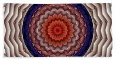 Bath Towel featuring the digital art Mandala 10 by Terry Reynoldson