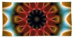 Bath Towel featuring the digital art Mandala 100 by Terry Reynoldson