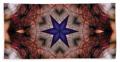 Bath Towel featuring the digital art Mandala 14 by Terry Reynoldson