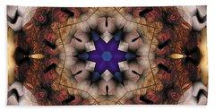 Bath Towel featuring the digital art Mandala 16 by Terry Reynoldson