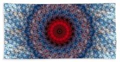 Bath Towel featuring the digital art Mandala 3 by Terry Reynoldson