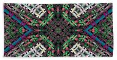 Bath Towel featuring the digital art Mandala 32 by Terry Reynoldson