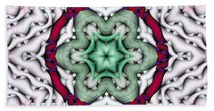 Hand Towel featuring the photograph Mandala 7 by Terry Reynoldson