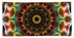 Bath Towel featuring the digital art Mandala 74 by Terry Reynoldson