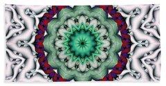 Bath Towel featuring the digital art Mandala 8 by Terry Reynoldson