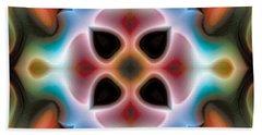 Bath Towel featuring the digital art Mandala 82 by Terry Reynoldson