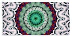 Bath Towel featuring the digital art Mandala 9 by Terry Reynoldson