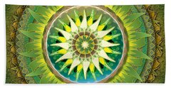 Mandala Green Hand Towel