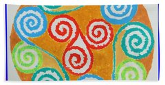 Hand Towel featuring the painting Mandala by Sonali Gangane