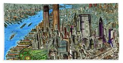 New York Downtown Manhattan 1972 Hand Towel