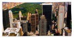 Manhattan And Central Park Hand Towel