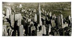 Manhattan And Chrysler Building II Bath Towel