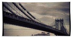 Manhattan Bridge In Ny Hand Towel