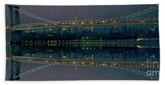 Manhattan Bridge New York Bath Towel