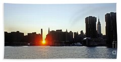 Bath Towel featuring the photograph Manhattanhenge 2011 by Lilliana Mendez
