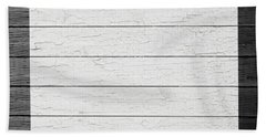 Map Of Colorado State Outline White Distressed Paint On Reclaimed Wood Planks Bath Towel