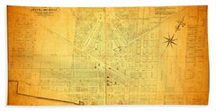 Map Of Detroit Michigan C 1835 Bath Towel