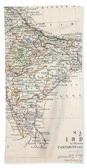 Map Of India Bath Towel