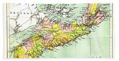 map of Nova Scotia - 1878 Hand Towel