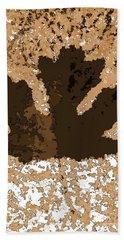 Maple Leaf Brown  Hues Hand Towel