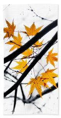 Maple Leaves Hand Towel by Jonathan Nguyen