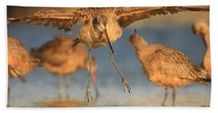 Hand Towel featuring the photograph Marbled Godwit  by John F Tsumas