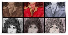 Marc Bolan Glam Rocker Collage Hand Towel