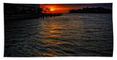 Hand Towel featuring the photograph Marco Island Sunset 43 by Mark Myhaver