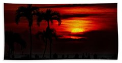 Hand Towel featuring the photograph Marco Island Sunset 59 by Mark Myhaver