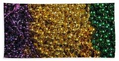 Mardi Gras Beads - New Orleans La Bath Towel