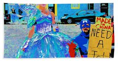 Hand Towel featuring the photograph Mardi Gras New Orleans by Luana K Perez