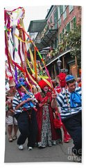Hand Towel featuring the photograph Mardi Gras In New Orleans by Luana K Perez