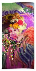 Mardi Gras Queen Hand Towel