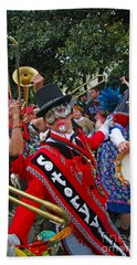 Hand Towel featuring the photograph Mardi Gras Storyville Marching Group by Luana K Perez