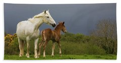 Mare And Foal, Co Derry, Ireland Bath Towel