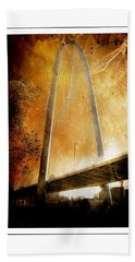 Margaret Hunt Hill Bridge Dallas Texas Bath Towel