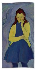 Margaret, Irish Girl, 1967 Oil On Canvas Hand Towel